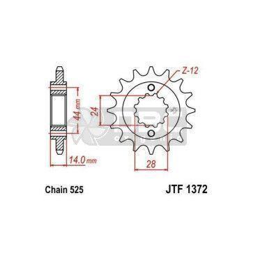 Pinhão JT Sprockets JTF 1372.17