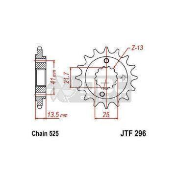 Pinhão para Honda Trasalp 700 08-13 JTF296.15