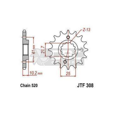 Pinhão para Yamaha XT660 Z Tenere ABS 11-15 JTF308.15