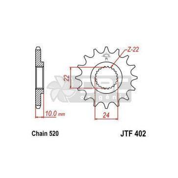 Pinhão Para BMW F650 94-95 JTF402.16