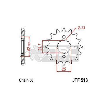 Pinhão para Yamaha YZF R6 JTF513.15