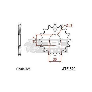 Pinhão para Suzuki  DL650 V-STROM  JTF520.15