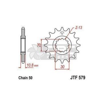 Pinhão JT Sprockets JTF 579.17