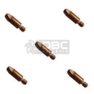 Bico de contato DBC M6x25 ø0,8mm CUCRZR para tocha MIG (5 unidades)