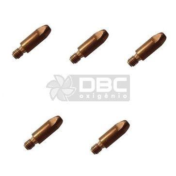 Bico de contato DBC M8x30 ø1,2mm CUCRZR para tocha MIG (5 unidades)