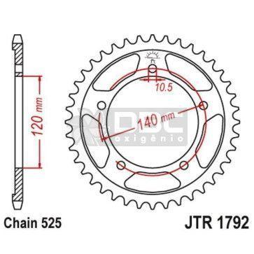 Coroa para SUZUKI DL650 V-STROM  JTR 1792.47