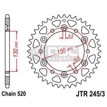 Coroa para YAMAHA  XJ6N/F JTR 245/3.46