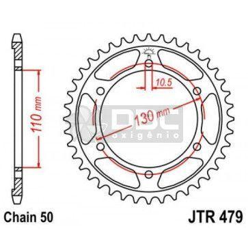 Coroa para SUZUKI  GSX R1000 SRAD (09-15) JTR 479.42