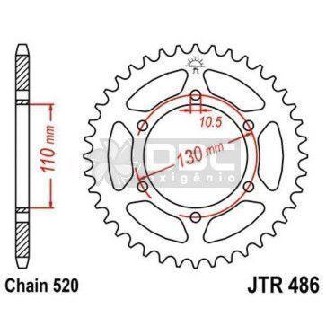Coroa JT Sprockets JTR 486.43