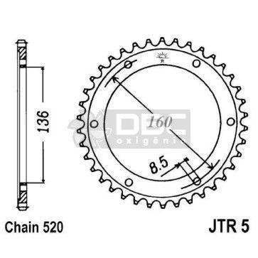 Coroa JT Sprockets JTR 5.45