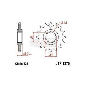 Pinhão para Honda CBR600 RR  JTF1370.16