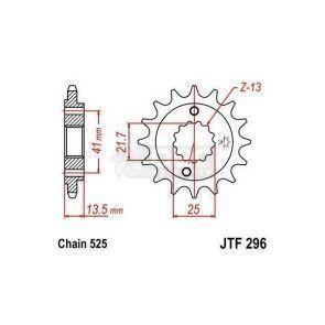 Pinhão JT Sprockets  JTF296.16