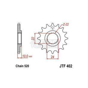 Pinhão Para BMW G650 GS Sertão 12-13 JTF402.16
