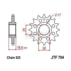 Pinhão JT Sprockets JTF 704.17