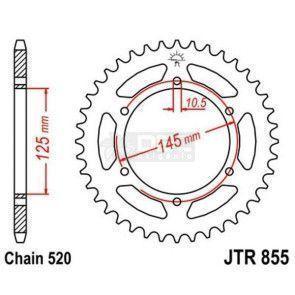 Coroa para YAMAHA TENERE XT660Z 2012 JTR 855.45