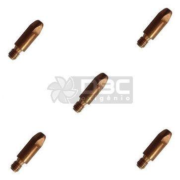 Bico de contato DBC M6x28 ø0,9mm CUCRZR para tocha MIG (5 unidades)