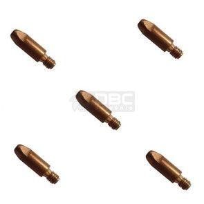 Bico de contato DBC M6x25 ø1,0mm CUCRZR para tocha MIG (5 unidades)