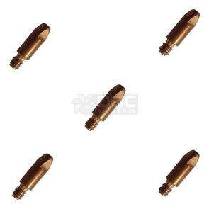 Bico de contato DBC M6x28 ø1,0mm CUCRZR para tocha MIG (5 unidades)