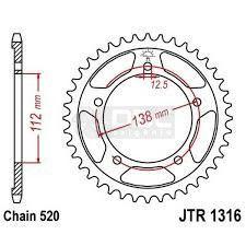 Coroa JT Sprockets JTR 1316.41