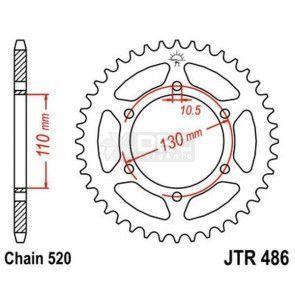 Coroa JT Sprockets JTR 486.43 NINJA 300 13-15 /  SRAD 750 11-15